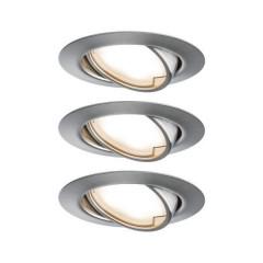 Base Lampada da incasso Kit da 3 LED (monocolore) LED 15 W Ferro (spazzolato)