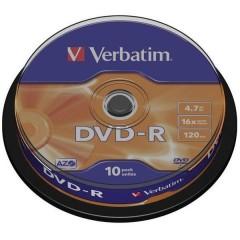 DVD-R vergine 4.7 GB 10 pz. Torre