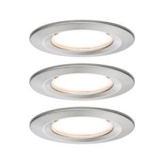 Nova Lampada da incasso per bagno Kit da 3 LED (monocolore) LED 19.5 W IP44 Acciaio inox (spazzolato)