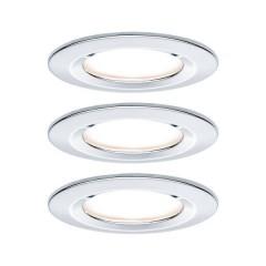 Nova Lampada da incasso per bagno Kit da 3 LED (monocolore) LED 19.5 W IP44 Cromo (lucido)
