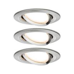 Nova Lampada da incasso Kit da 3 LED (monocolore) LED 19.5 W Acciaio inox (spazzolato)
