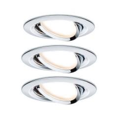 Nova Lampada da incasso Kit da 3 LED (monocolore) LED 19.5 W Cromo (lucido)