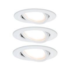 Nova Lampada da incasso Kit da 3 LED (monocolore) LED 19.5 W Bianco opaco