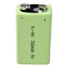 Batteria ricaricabile da 9 V NiMH 300 mAh 8.4 V 1 pz.