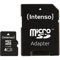 High Performance Scheda microSDHC 4 GB Class 10 incl. Adattatore SD