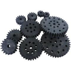 Legno, Plastica Assortimento di ingranaggi Tipo di modulo: 1.0 Numero di denti: 10, 15, 20, 30, 40 10 pz.