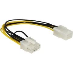 Cavo Corrente [1x Spina PCIe 8 poli - 1x Presa PCIe 6 poli ] 20.00 cm Giallo, Nero