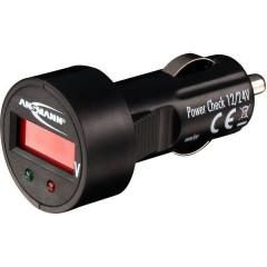 PowerCheck12/24V-bl Voltmetro per auto 24 V, 12 V