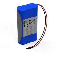Pacco batteria 2x 18650 1S2P con cavo Li-Ion 3.7 V 5200 mAh