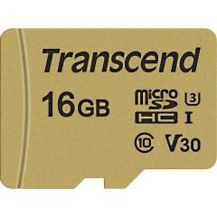 Premium 500S Scheda microSDHC 16 GB Class 10, UHS-I, UHS-Class 3, v30 Video Speed Class incl. Adattatore SD