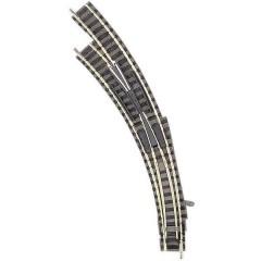 N piccolo (con massicciata) Scambio curvo, sinistro 45 ° 356.5 mm, 420 mm