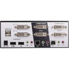DVI Dual Head KVM Switch Pro 2 Porte Switch KVM