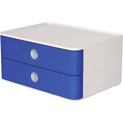 Cassettiera SMART-BOX ALLISON Blu Reale, Bianco Numero cassetti: 2