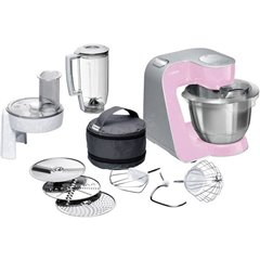Robot da cucina 1000 W Rosa, Argento (opaco)