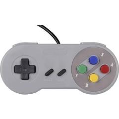 Gamepad SNES Design Gamepad Raspberry Pi®, Universale Grigio