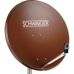 Antenna SAT 80 cm Materiale riflettente: Acciaio Rosso mattone