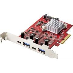 2+2 Porte Scheda controller USB 3.1 USB 3.2 (Gen 2), USB-C™ PCIe