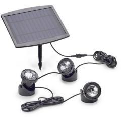 Illuminazione per stagno Kit da 3 LED (monocolore) 0.5 W Nero