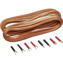 Kit cavi per altoparlanti HiFi per auto 2 x 0.75 mm² 10.00 m placcato oro, incl. spina