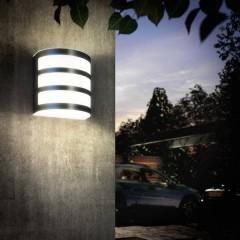 Calgary Lampada da parete per esterni a LED 3 W Bianco caldo acciaio inox