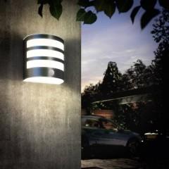 Calgary Lampada LED da parete per esterno con rilevatore di movimento 3 W Bianco caldo
