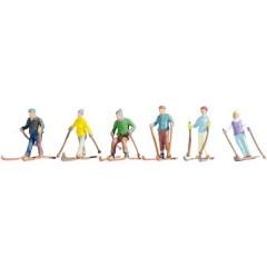 N Personaggi di sciatori