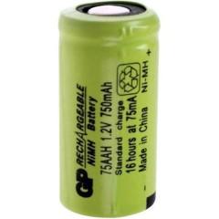 GP75AAH Batteria ricaricabile speciale 2/3 AA Flat Top NiMH 1.2 V 750 mAh