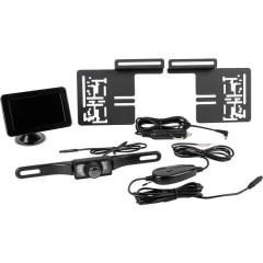 Sistema video di retromarcia senza fili Linee guida Distanza Ventosa, Portatarga Nero