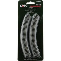 N Kato Unitrack Binario curvo 45 ° 216 mm