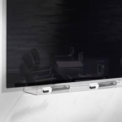 Vassoio portaoggetti artverum® (L x A x P) 500 x 75 x 90 mm Trasparente