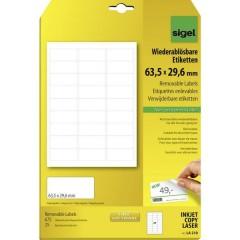 Etichette 63.5 x 29.6 mm Carta Bianco 675 pz. Staccabile Etichetta universale 25 fogli DIN A4