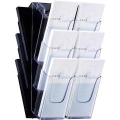 Porta depliant Acrilico trasparente DIN A6, DIN lungo Numero scomparti 3 1 pz. (L x A x P) 120 x 375 x 115