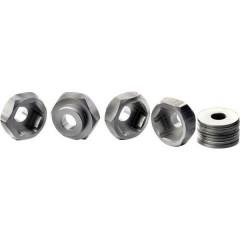 17 mm 1:10 Mozzo ruota in alluminio Alluminio 4 pz.