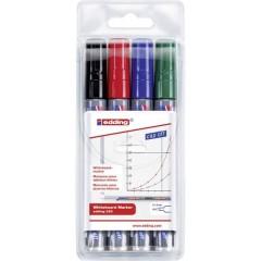 edding 250 whiteboard marker Marcatore per lavagna bianca Nero, Blu, Rosso, Verde 4 pz./conf.