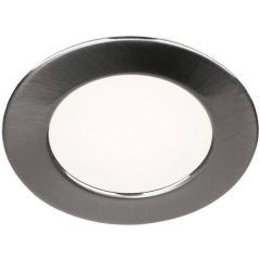 DL 126 Lampada LED da incasso 3 W Bianco caldo Metallo (spazzolato)