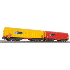 H0 kit 2 pz. vagone per il trasporto di ThyssenKrupp