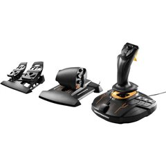 T16000M FCS Flight Pack Joystick per simulatore di volo USB PC Nero incl. Pedale, incl. Cursore