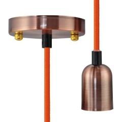 Miami Lampada a sospensione LED (monocolore) E27 Rose, Rame