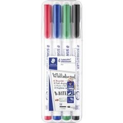 Lumocolor whiteboard pen 301 Marcatore per lavagna bianca Nero, Rosso, Blu, Verde 4 pz./conf.