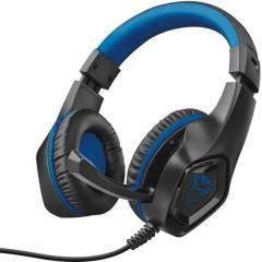 GXT404B Rana Cuffia Headset per Gaming Jack 3,5 mm Filo Cuffia Over Ear Nero, Blu
