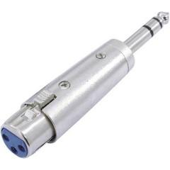 XLR Adattatore [1x Presa XLR 3 poli - 1x Spina jack da 6.3 mm (stereo)]