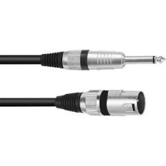 XLR Cavo adattatore [1x Spina XLR 3 poli - 1x Spina jack da 6.3 mm (mono)] 2.00 m Nero