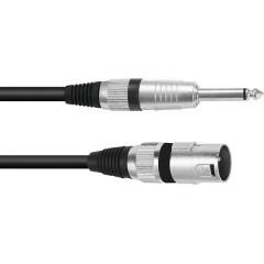 XLR Cavo adattatore [1x Spina XLR 3 poli - 1x Spina jack da 6.3 mm (mono)] 10.00 m Nero