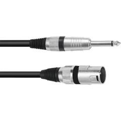 XLR Cavo adattatore [1x Spina XLR 3 poli - 1x Spina jack da 6.3 mm (mono)] 5.00 m Nero