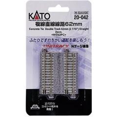 N Kato Unitrack Binario doppio, dritto 62 mm