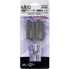 N Kato Unitrack Binario doppio, Binario di raccordo 62 mm