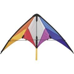 Aquilone acrobatico Calypso II Rainbow Larghezza estensione 1100 mm Intensità del vento 2 - 5 bft