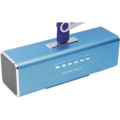 MusicMan MA Lautsprecher Mini altoparlante AUX, Radio FM, USB, SD Blu