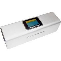 MusicMan MA Display Soundstation Mini altoparlante AUX, Radio FM, USB Argento
