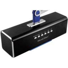 MusicMan MA Lautsprecher Mini altoparlante AUX, Radio FM, USB, SD Nero